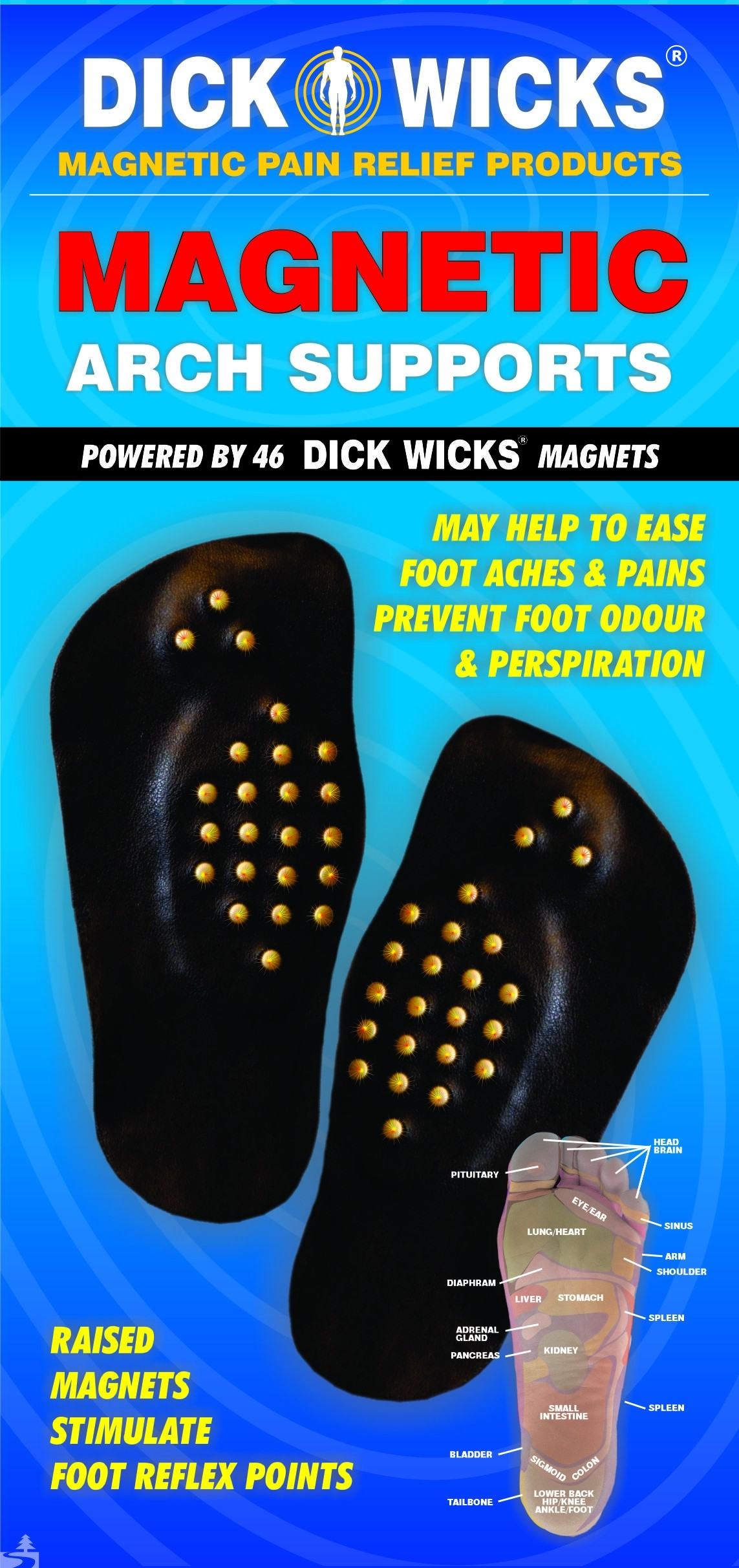 Dick Wicks Magnetic Arch Supports (Pair)