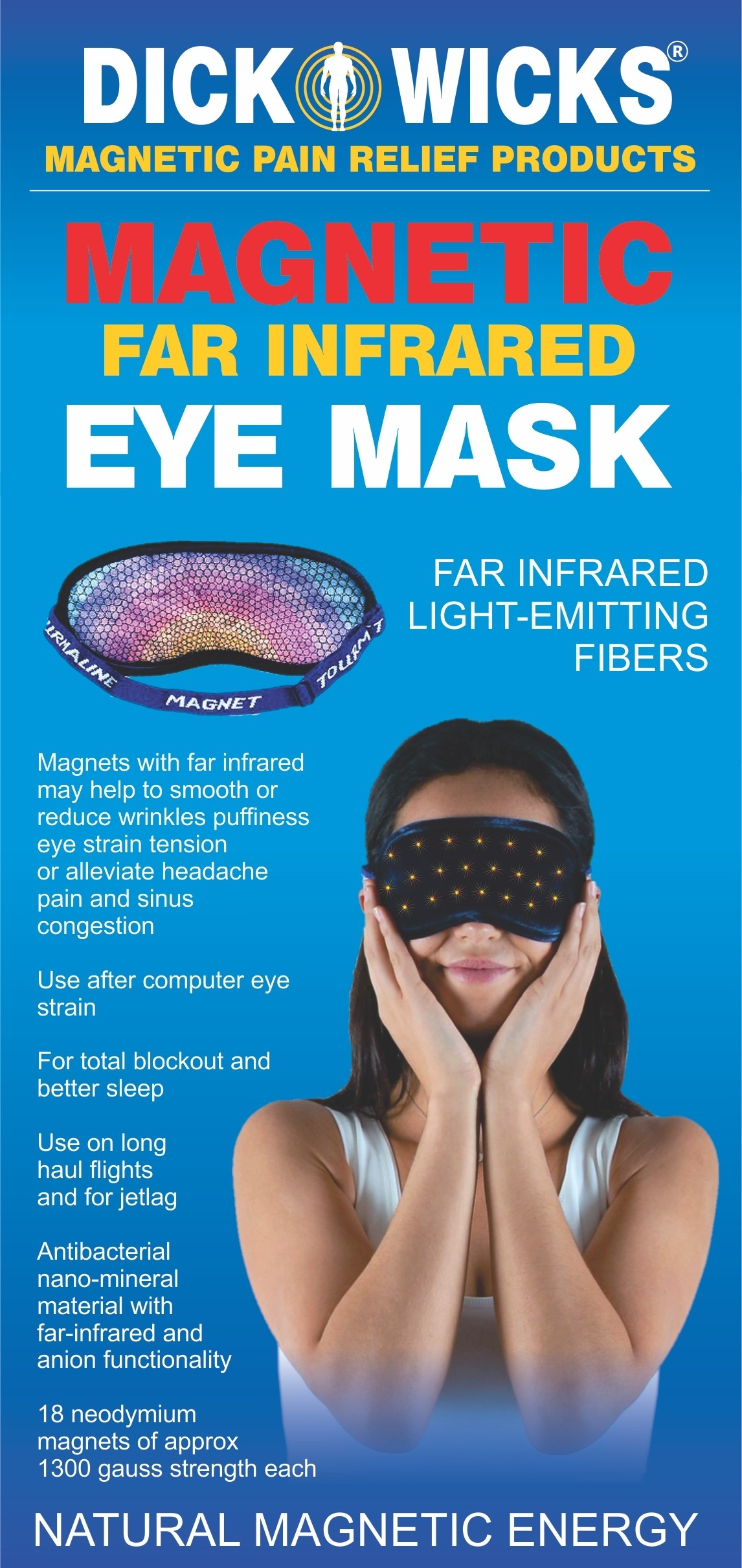 Dick Wicks Magnetic FAR Infrared Eye Mask