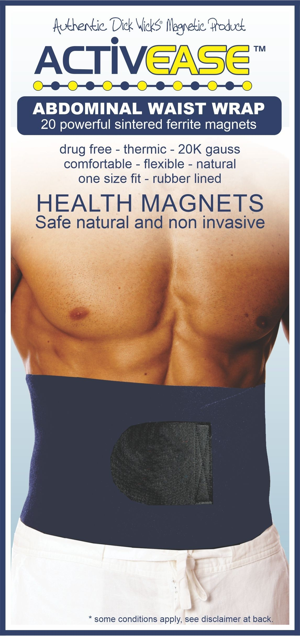 Activease Thermal Waist Wrap with Magnets by Dick Wicks