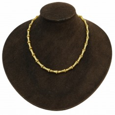 Bamboo Style Gold Chain