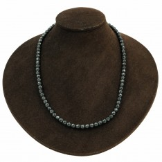 Faceted Hematite Black Pearl Necklace