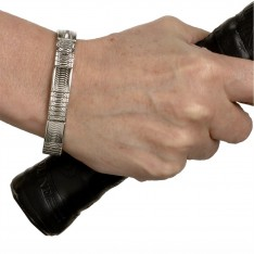 Dick Wicks Aimante Magnetic Silver Stretch Health Bracelet for Men and Women