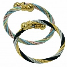 Dick Wicks Magnetic Ball and Twist Cable Health Bangle