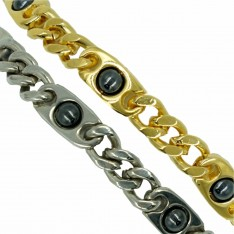 Dick Wicks Magnetic Health Bracelet with Chain Linked Hematite Balls