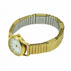 Dick Wicks Magnetic Watch Womens Stretch Band 4 magnets Gold