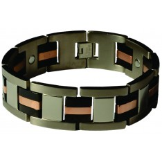 Dick Wicks Premium Magnetic Health Bracelet Brando Mens Titanium Wide-Fit