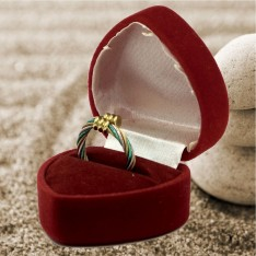 Magnetic Fashion Ring Twisted Cables Pink/Gold/Green one size