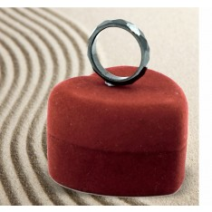 Dick Wicks Faceted Hematite Magnetic Ring