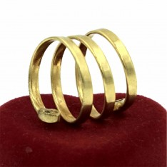 Dick Wicks Chunky Spiral Magnetic Ring (Gold)