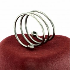 Magnetic Fashion Fine Spiral Ring Silver