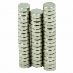 Dick Wicks Neodymium Therapy Magnets Chrome Plated 11x3mm disc (50pcs)
