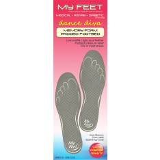 'Dance Diva' Memory Foam Padded Footbeds - ONE SIZE